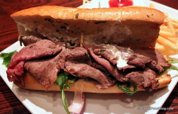 Roast Beef Sandwich -- Inside
