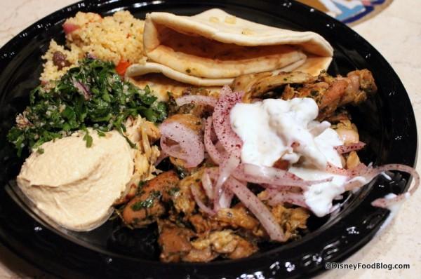 Chicken Shawarma Platter at Tangierine Cafe