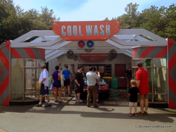Cool Wash, Across from the Taste Track Kiosk