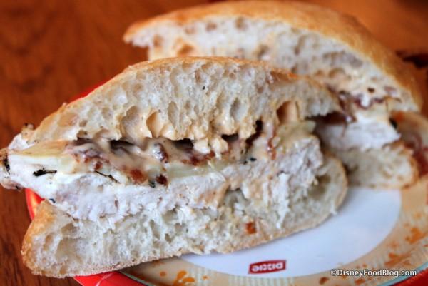 Deluxe Chicken Sandwich -- Cross Section