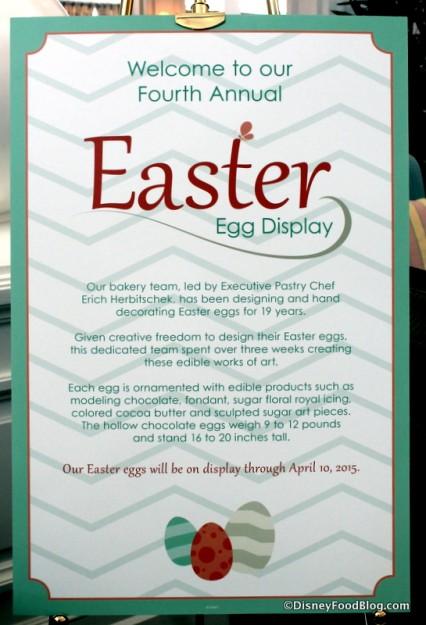2015 Grand Floridian Easter Egg display