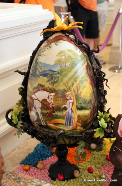 Rapunzel Painted Egg
