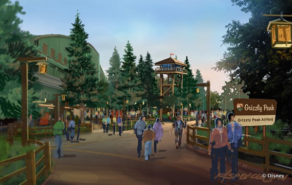 Newly Re-Imagined Grizzly Peak Area in Disney California Adventure