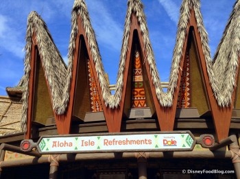 Aloha Isle Sign in Adventureland