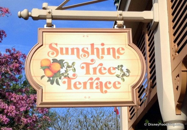 New Sunshine Tree Terrace Sign