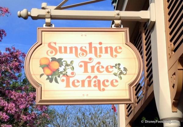 New Sunshine Tree Terrace Sign