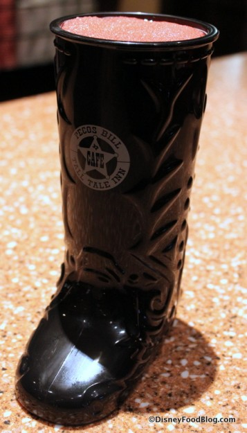 Pecos Bill's Souvenir Boot -- Up Close