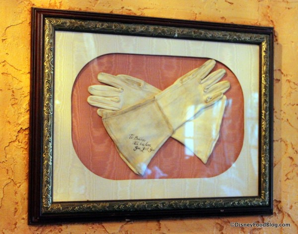 A Lady's Gloves -- Autographed and Framed