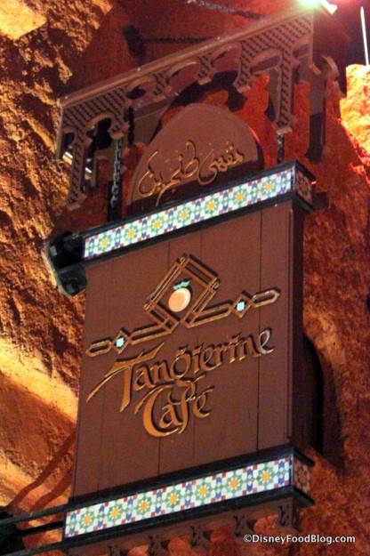 Tangierine Cafe Sign
