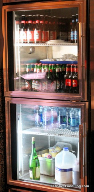 Top Cooler with Bottled Soft Drinks and Beer