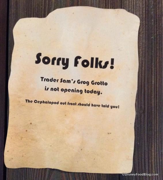 Sorry Folks!