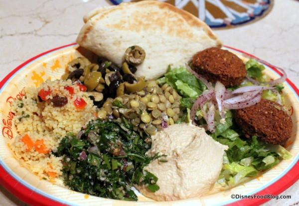 Vegetarian Platter at Tangierine Cafe in Epcot's Morocco Pavilion