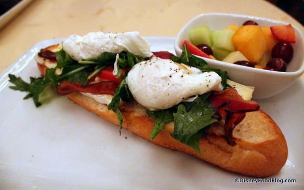 Open-Face Bacon and Egg Sandwich