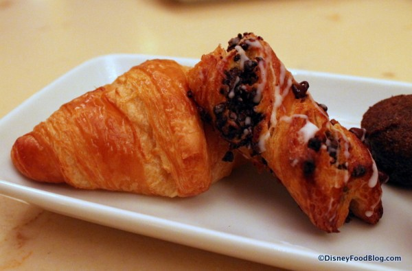 Croissant and Chocolate Croissant