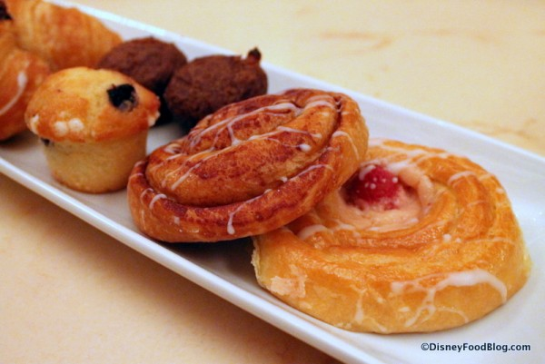 Closeup on assorted pastries