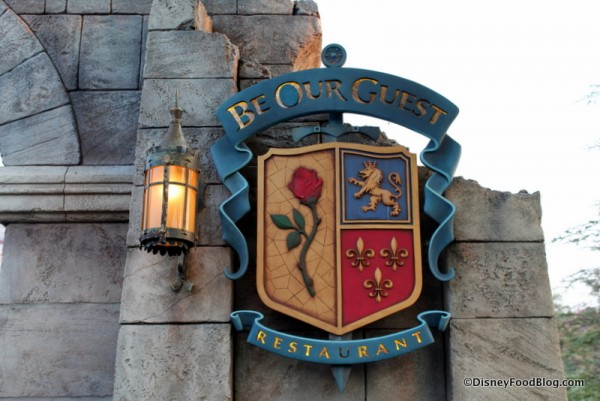 be our guest restaurant sign 2