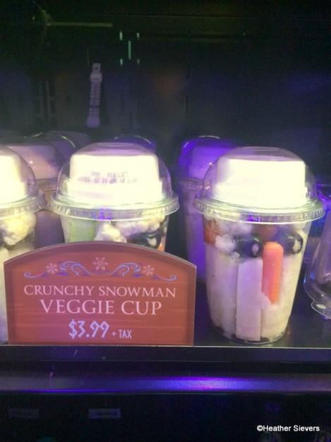 Crunchy Snowman Veggie Cup