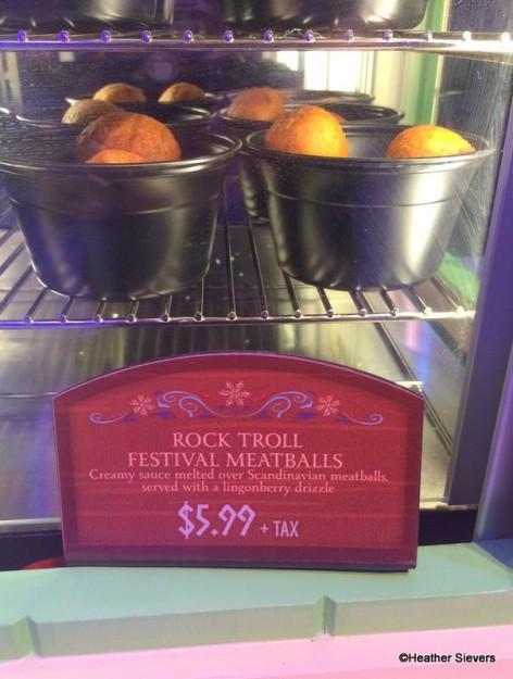 Rock Troll Festival Meatballs Signage
