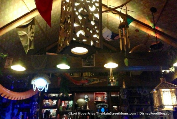 Lighting inside Trader Sam's