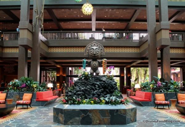 Tiki Statue in Lobby