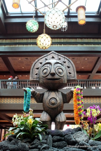 New Tiki Statue in Lobby at the Polynesian