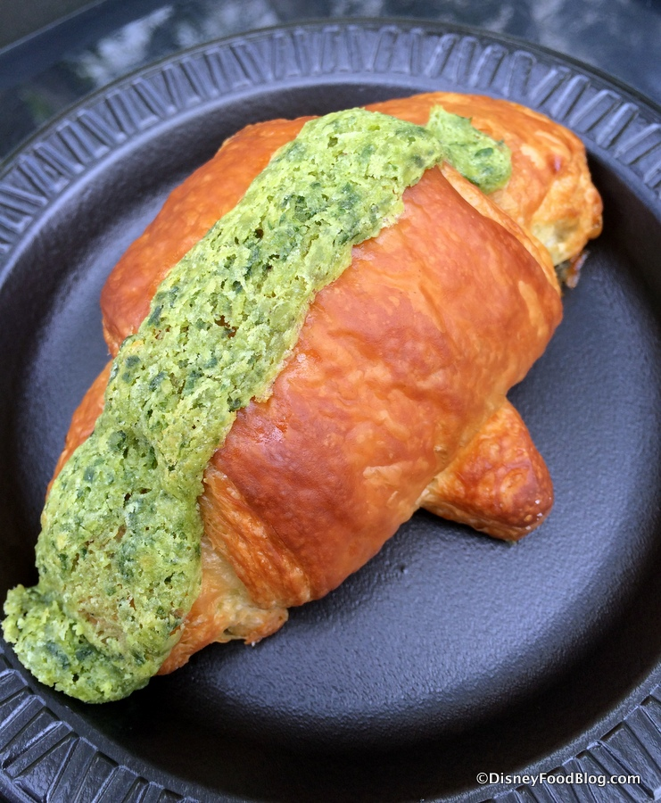 2017 epcot food and wine festival booths menus and food photos croissant aux escargots with garlic and parsley forumfinder Images