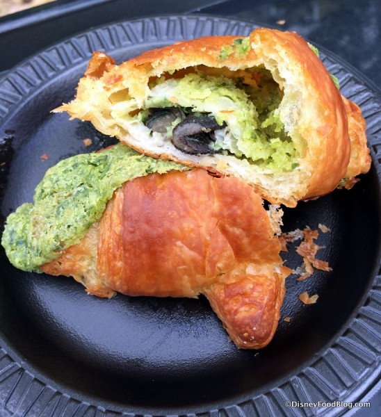 Cross-Section of Croissant aux Escargots with Garlic and Parsley