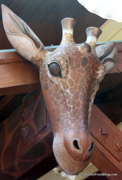 Giraffe Carving