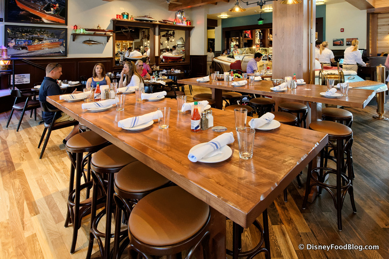 Review the boathouse at disney world s disney springs disney food restaurants disney - Restaurant communal tables ...