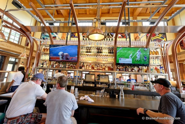 Bar Seating and televisions