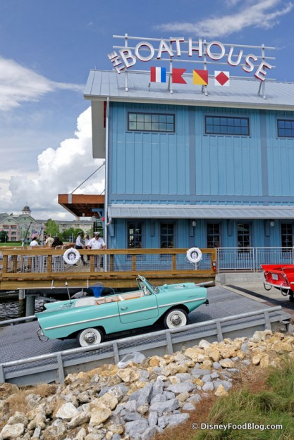 One of the Amphicars on the Ramp
