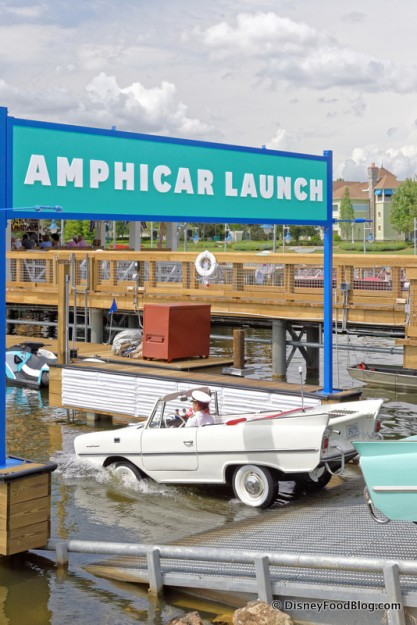One of the Captains Taking an Amphicar for a Spin