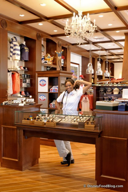Cast Member and Display Counters in Ship Store