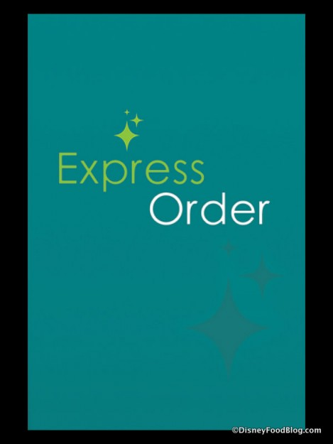 Express Order screenshot