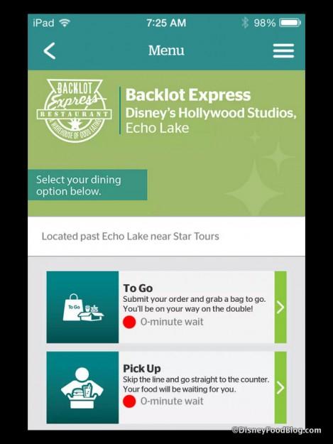 Backlot Express intro screen