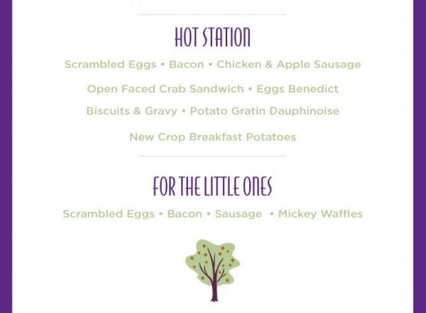 Garden Grove Mothers Day Breakfast Menu