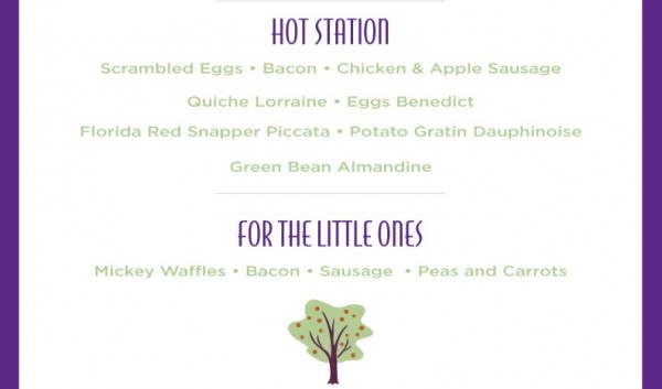 Garden Grove Mothers Day Brunch Menu Hot Items and Children's Menu -- Click to Enlarge