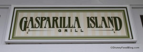 Gasparilla Island Grill sign