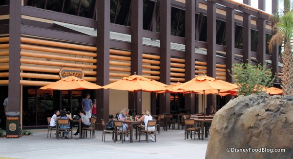 Outdoor seating at Captain Cook's