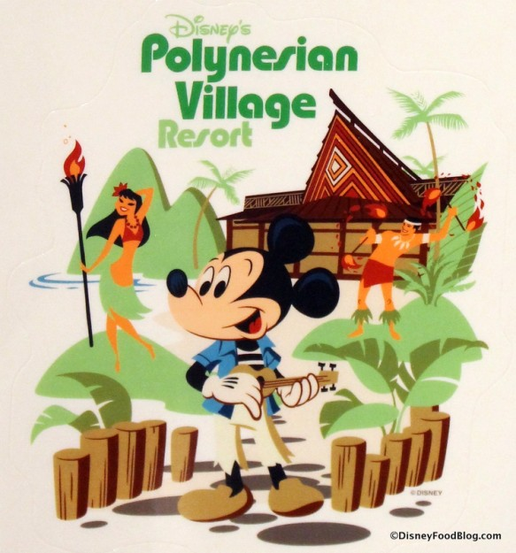 Polynesian Village Resort decal