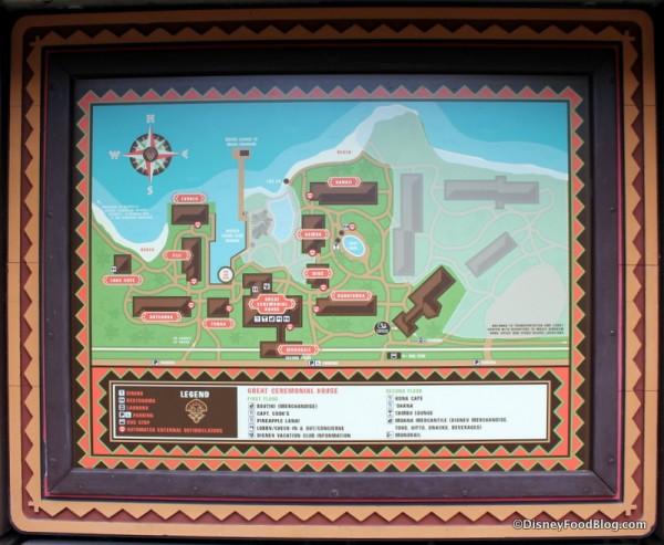 Map of the Polynesian Village Resort