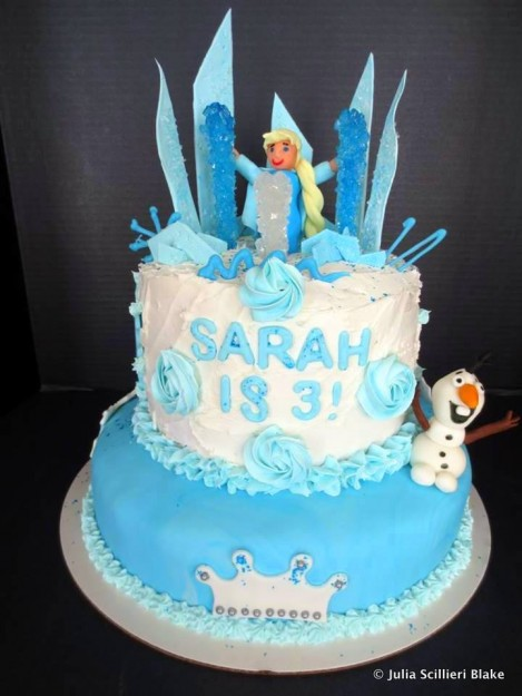 """Frozen"" Birthday Cake by Reader !"