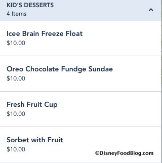 kids dessert menu the boathouse orlando
