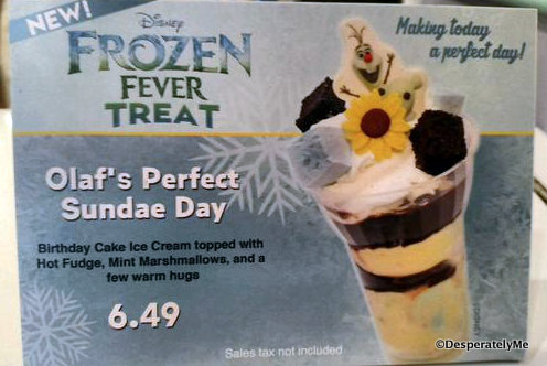 Spotted! Olaf's Perfect Sundae Day at Disney World's Beaches and Cream