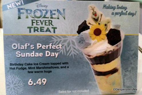 Frozen Fever Treat sign