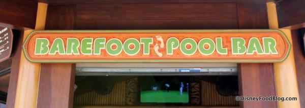 Barefoot Pool Bar sign