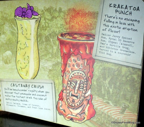 Castaway Crush and Krakatoa Punch