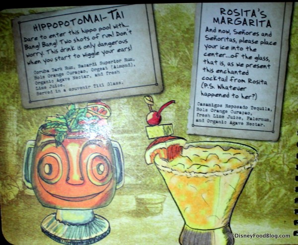 HippopotoMai-Tai and Rosita's Margarita