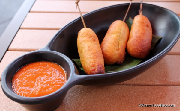 Corn-battered Portuguese Sausages