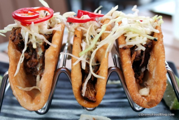 Kahlua Pork Tacos with Cabbage and Pickled Vegetables